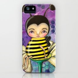 Bee Girl iPhone Case