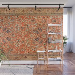 Antique Persian Sultanabad Rug Print Wall Mural