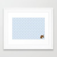animal crossing Framed Art Prints featuring Animal Crossing Winter Leaf by Rebekhaart