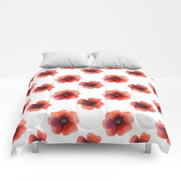 Meadow Red Poppies Comforters