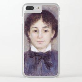 Auguste Renoir - Jeune Femme En Bleu Clear iPhone Case