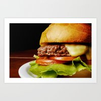 hamburger Art Prints featuring Hamburger by Mauricio Togawa