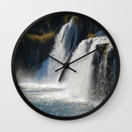 Waterfalls KRK, Croatia Wall Clock