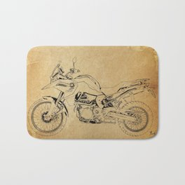 231-2019 F850GS original motorcycle artwork Bath Mat