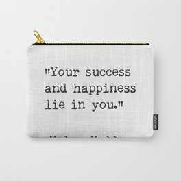 Helen Keller. Success and happiness. Carry-All Pouch
