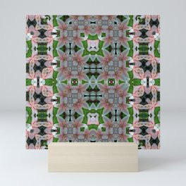 PATTERN LILY ELODIE SINGLE FLOWER PINK/WHITE 3 Mini Art Print