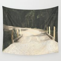 wooden Wall Tapestries featuring Wooden Bridge by Chris' Landscape Images & Designs
