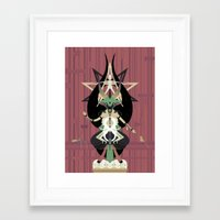 baphomet Framed Art Prints featuring Baphomet by Sparganum