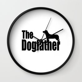The Dogfather Shirt - Dog Lover gift for father's day - Funny Dog Dad Shirt - Funny Shirt - Funny Gi Wall Clock