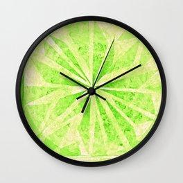 Color Project No. 11 Permanent Green Light Wall Clock
