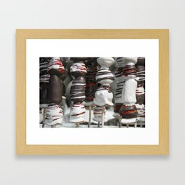 Strawberry Chocmallow kebabs  Framed Art Print
