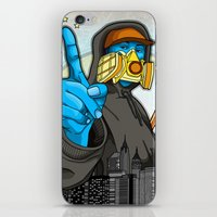 graffiti iPhone & iPod Skins featuring Graffiti by Helen Kaur