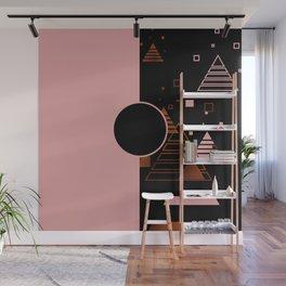 Modern Blush Christmas Wall Mural