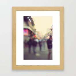 Bourbon Bokah Framed Art Print