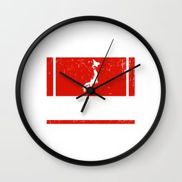 Japan Flag Fan Tokyo Japanese Wall Clock
