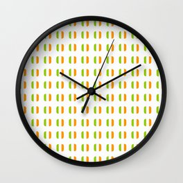 flag of ireland - with soft square Wall Clock