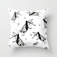 Man Hopper Throw Pillow