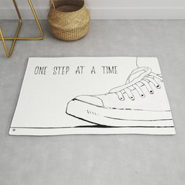 one step at a time Rug