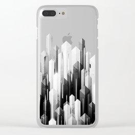obelisk posture 3 (monochrome series) Clear iPhone Case