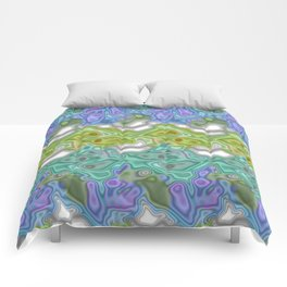 Topography Digital Bayadere Stripe Comforters