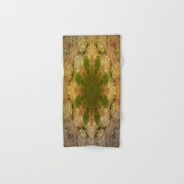 Green Flower Fossil Hand & Bath Towel