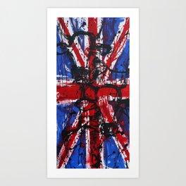 British Cows Union Jack Art Print