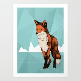 Ice Fox  Art Print