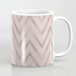 Mauve pink faux rose gold modern geometrical Coffee Mug