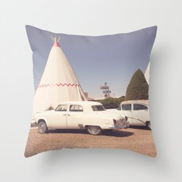 Sleep at the Wigwam Throw Pillow