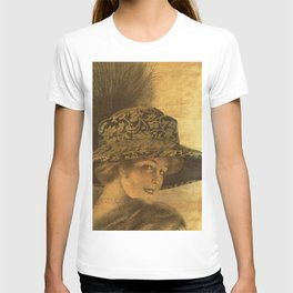 Golden victorian lady T-shirt
