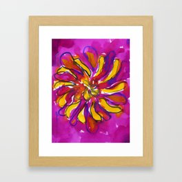 Bright Flower Framed Art Print