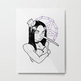 Pinocchio VS Gothic Metal Print