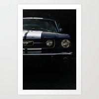 mustang Art Prints featuring MUSTANG by David Bascuñana
