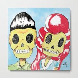 Red Head Couple Metal Print