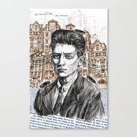 kafka Canvas Prints featuring Kafka by Nina Palumbo Illustration