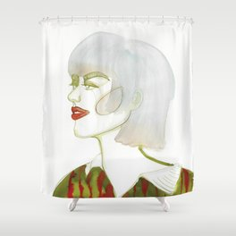 Mel with tip-dye hair Shower Curtain