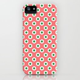 Holiday Hexies Pink & Green iPhone Case