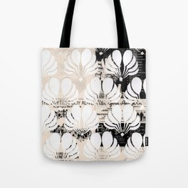 Newspaper Floral Cut Out Tote Bag