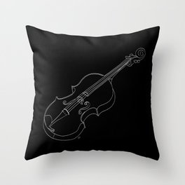 Violin in lines Throw Pillow