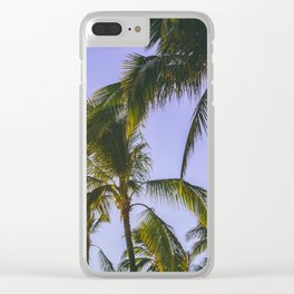 Tropical Palm Trees Clear iPhone Case