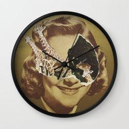 Golden Girl Wall Clock