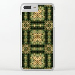 Indian Inspired Earthtone Tilework Clear iPhone Case