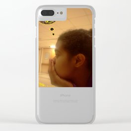 I Need Art Supplies: Black & Yellow Clear iPhone Case