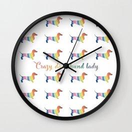 Crazy Dachshund Lady Wall Clock