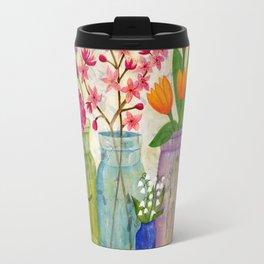 Springs Flowers in Old Jars Travel Mug