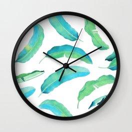 Turn Over a New Banana Leaf #society6 buyart #bananaleaves Wall Clock