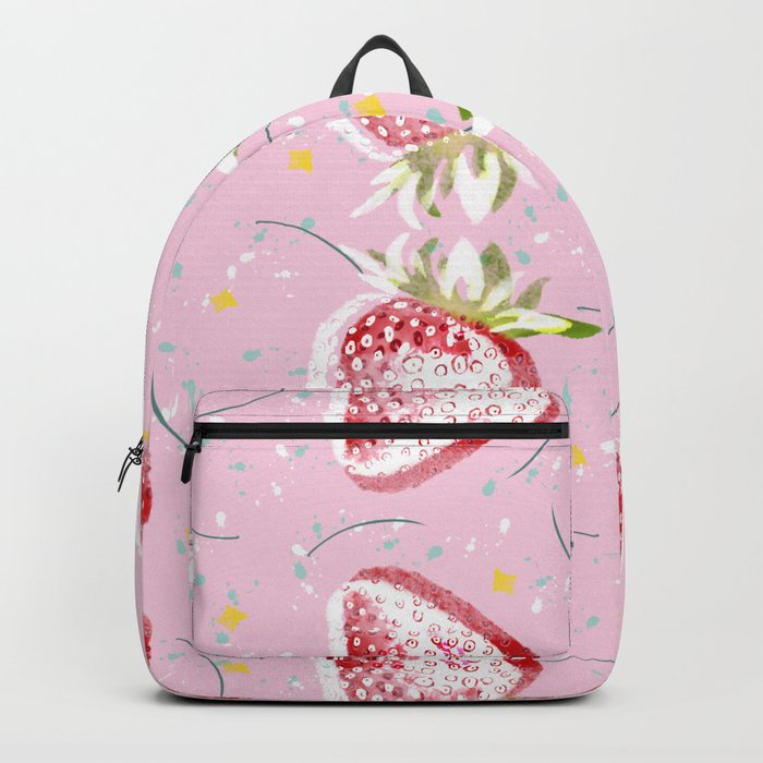 Strawberries Fiesta Pattern Backpack