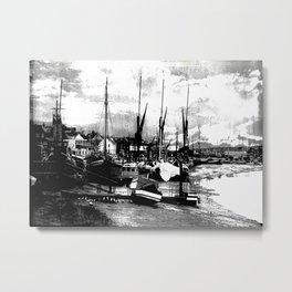 Boats At Sundown  Metal Print