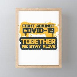 Fight-against design Framed Mini Art Print