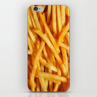 fries iPhone & iPod Skins featuring Fries by Maioriz Home